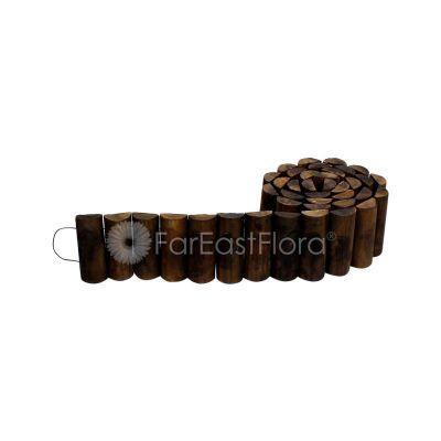 Wooden Flat Top Roll Fence B-251M - L240xH15cm