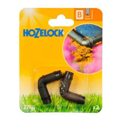 Hozelock 2766 Elbow Connector 90° 13mm (2s)