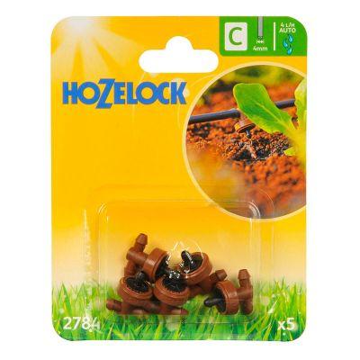 Hozelock 2784 In-Line Pressure Compensating Dripper (5s)