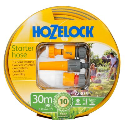 Hozelock 7230-Y Starter Set Maxi-Plus Hose with Accessories (30M)