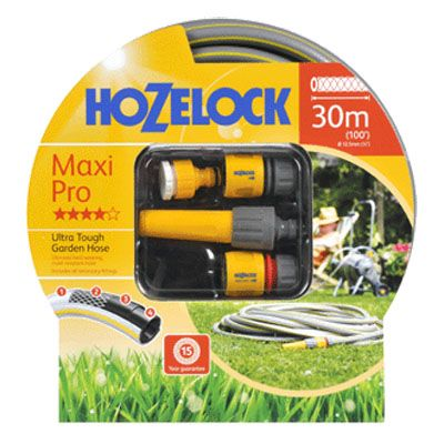Hozelock 7330-S Starter Set Maxi-Pro Hose with Accessories (30M)