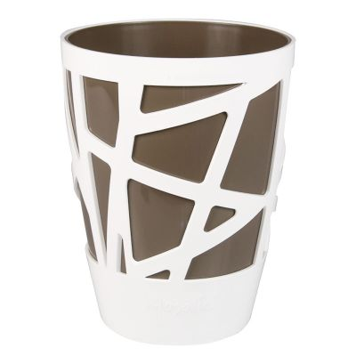 Idel Mosaic Curve High Pot (13cm) - Taupe