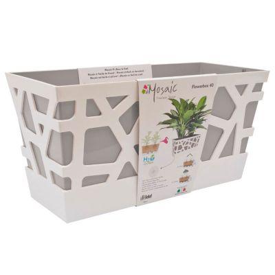 Idel Mosaic Flowerbox Pot (40cm) - Grey