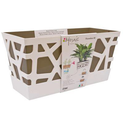 Idel Mosaic Flowerbox Pot (40cm) - Taupe