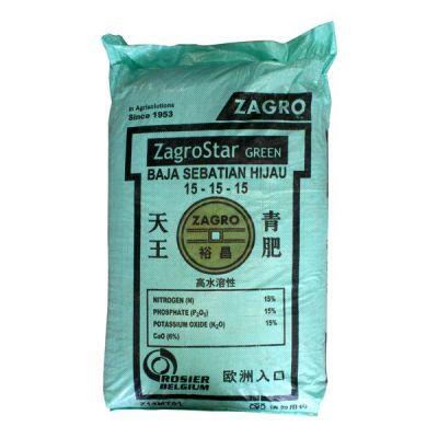 ZagroStar Green 15-15-15 (50Kg) - For Green Foliage