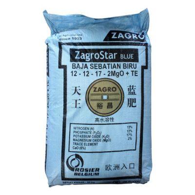 ZagroStar Blue 12-12-17 (50Kg) - For Flowering