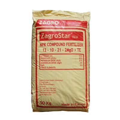 ZagroStar Red 13-10-21 (50Kg) - For Flowering